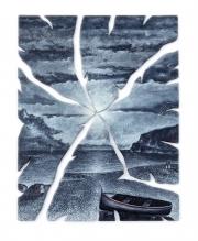 Crepuscolo a Capo Noli (95x115 cm)