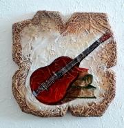 La chitarra  ( 27 x28 cm.)