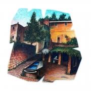 Un borgo di Verezzi (80x80 cm)